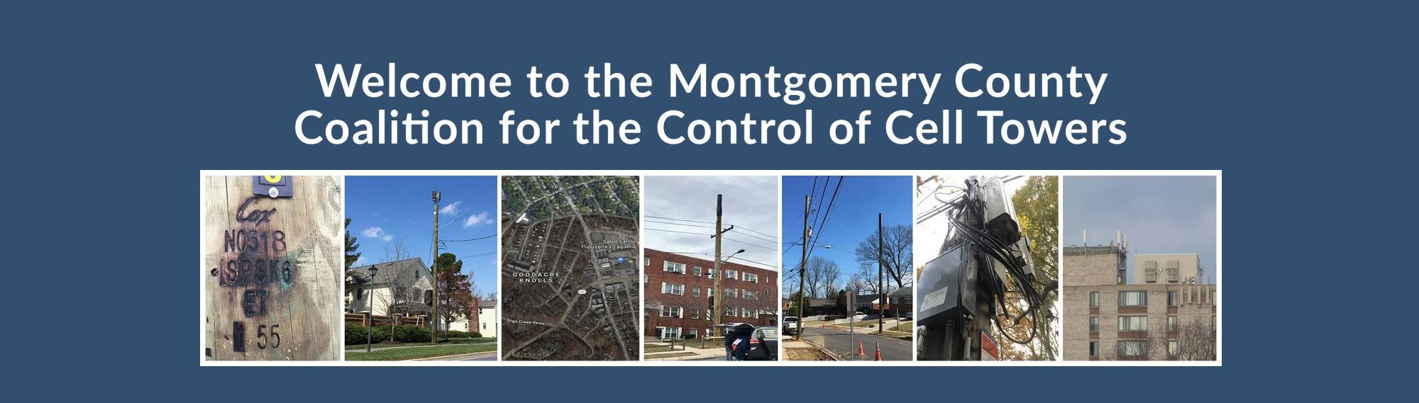 Welcome to the Montgomery County Coalition for the Control of Cell Towers Banner